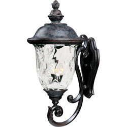 Carriage House VX 3-Light Outdoor Wall Lantern 40425WGOB