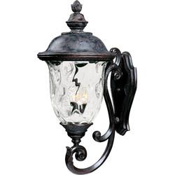 Carriage House VX 3-Light Outdoor Wall Lantern 40425WGOB