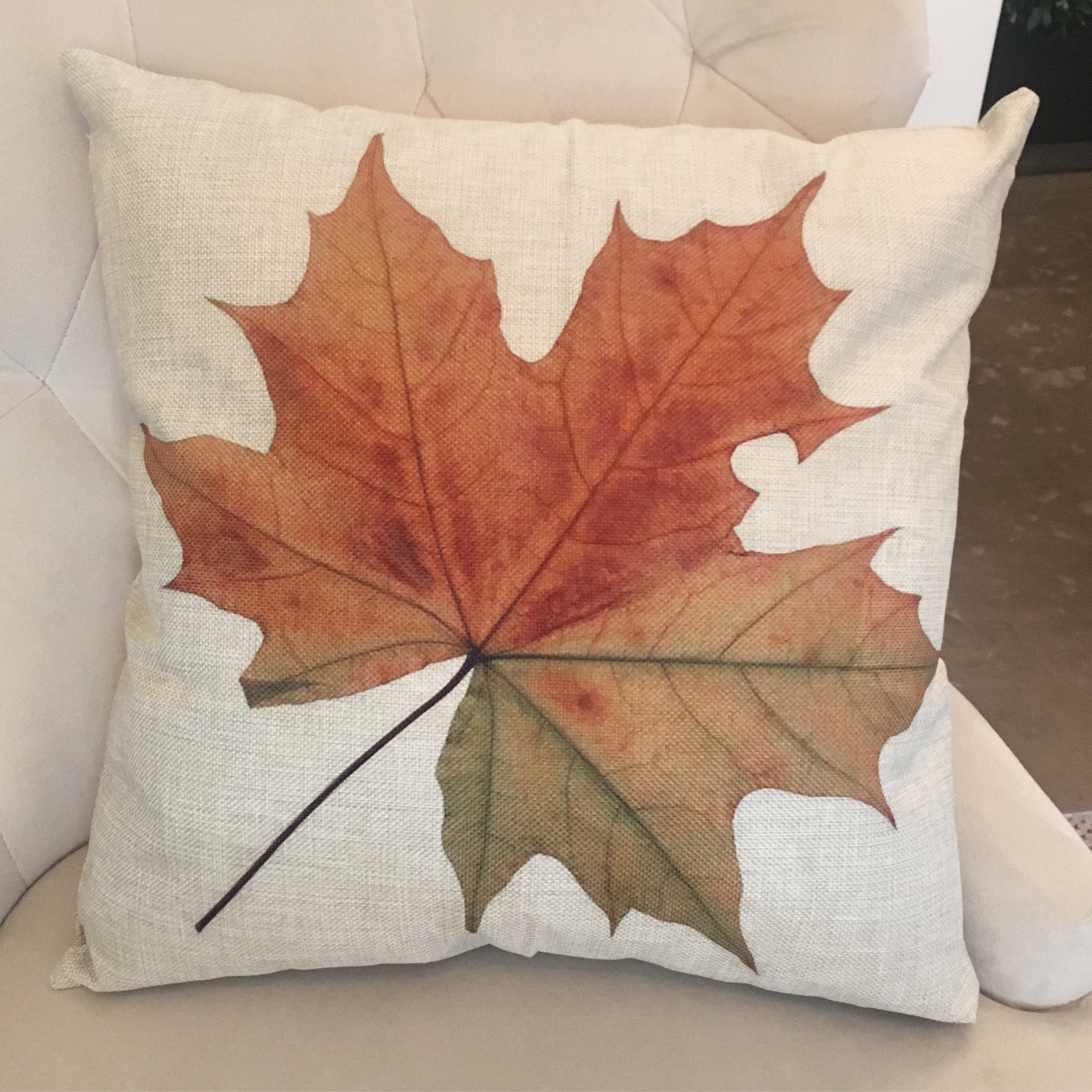 Autumn Leaf Pillow, $18.99