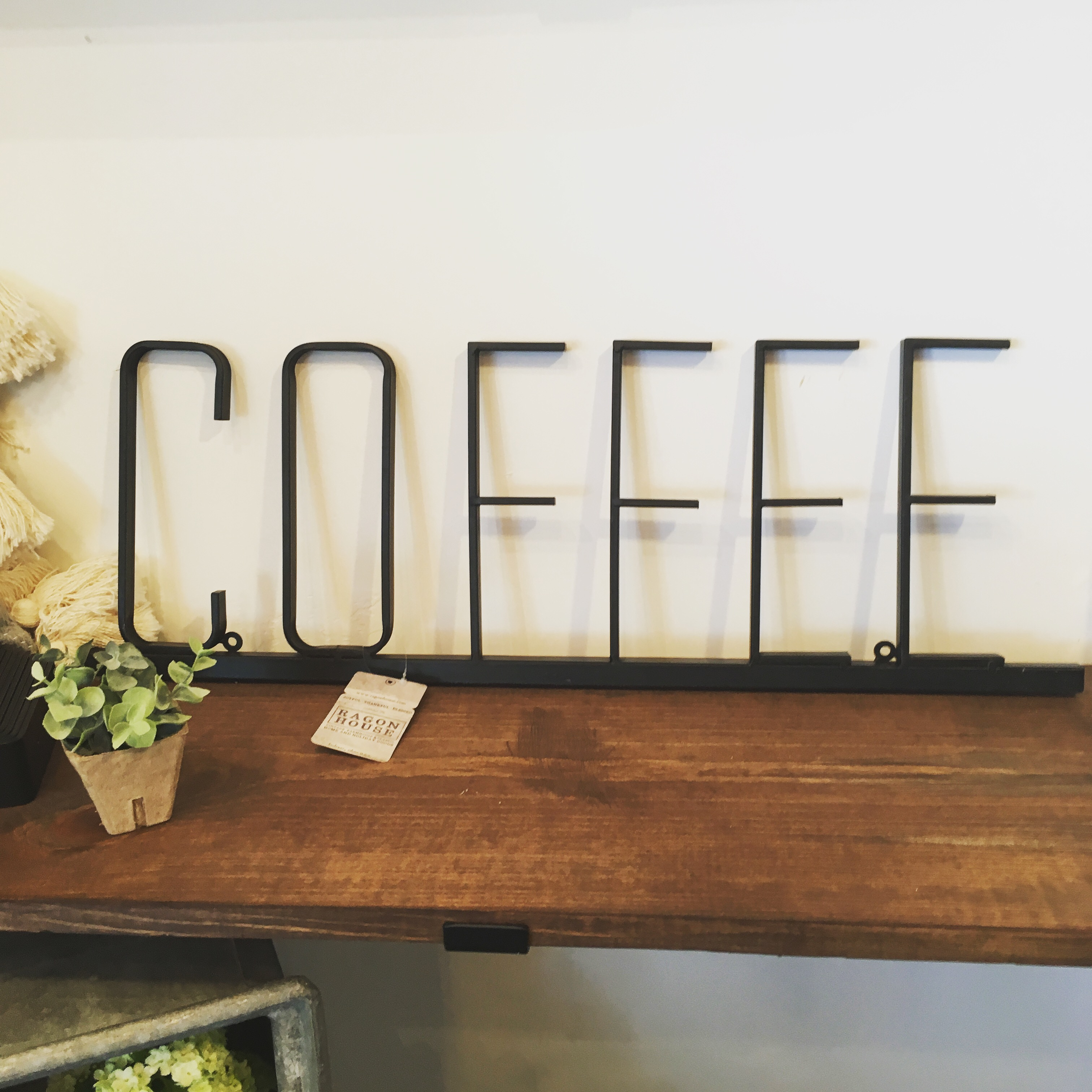 Metal Coffee Sign, $48.00