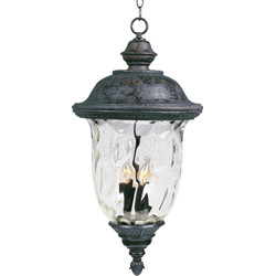 Carriage House VX 3-Light Outdoor Hanging Lantern 40427WGOB