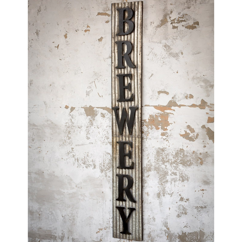 "Metal ""Brewery"" Sign $105"