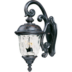 Carriage House VX 3-Light Outdoor Wall Lantern 40497WGOB