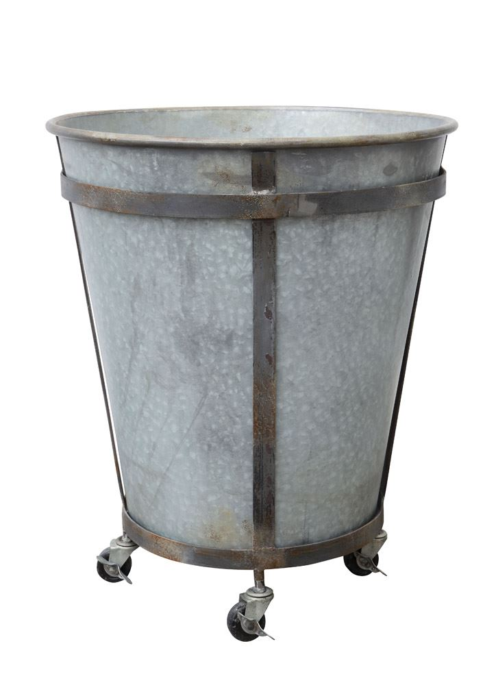 Metal Barrel w/Casters, $199.00