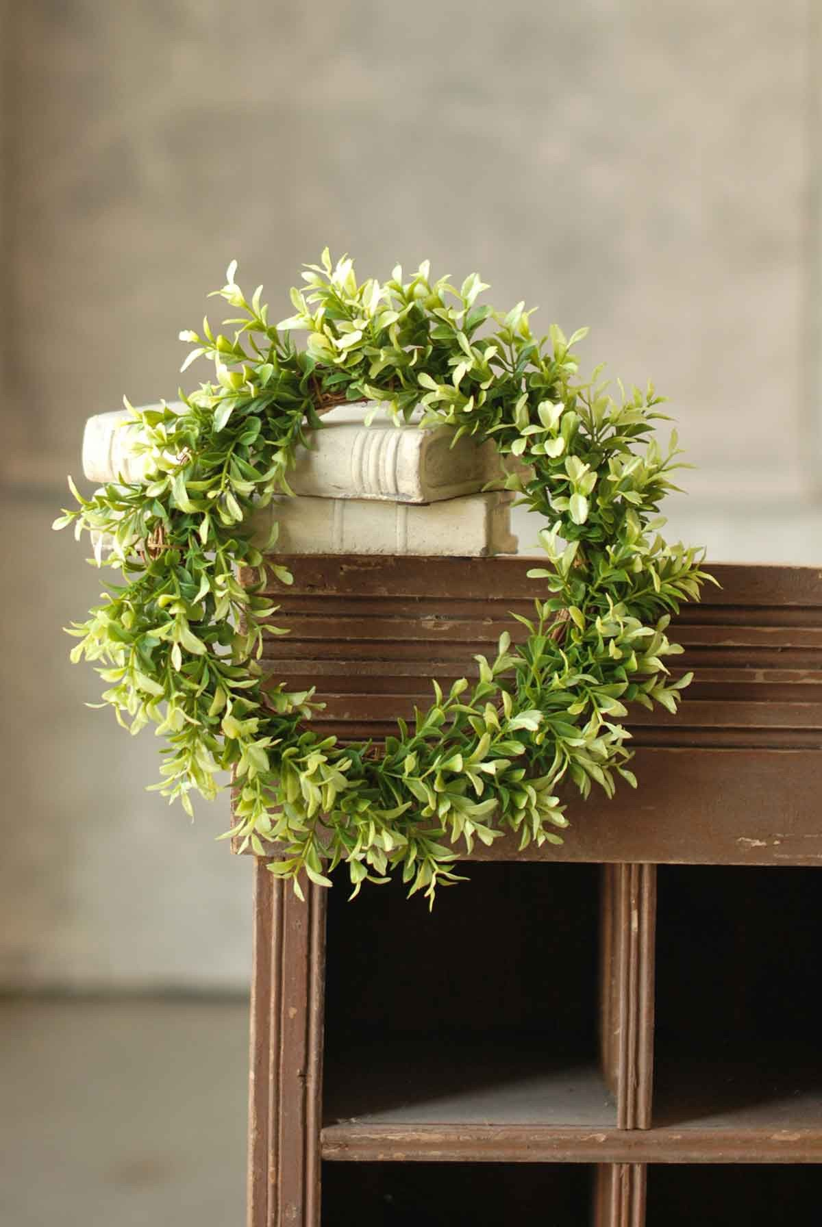 Buxus Boxwood Mini Wreath