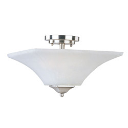 Aurora 2-Light Semi-Flush Mount