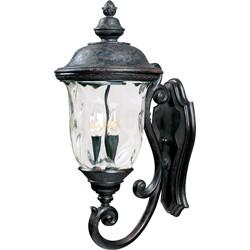 Carriage House VX 3-Light Outdoor Wall Lantern 40424WGOB