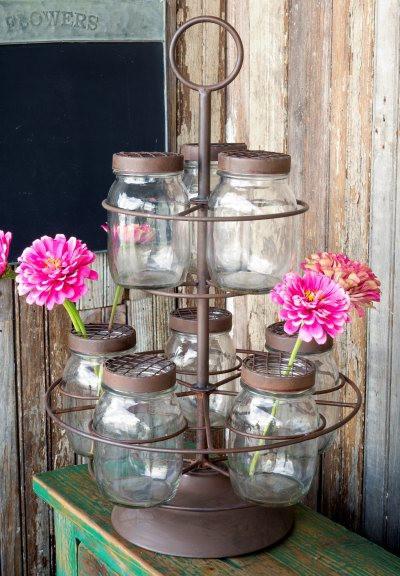 Canning Jar Flower Arranger, $52