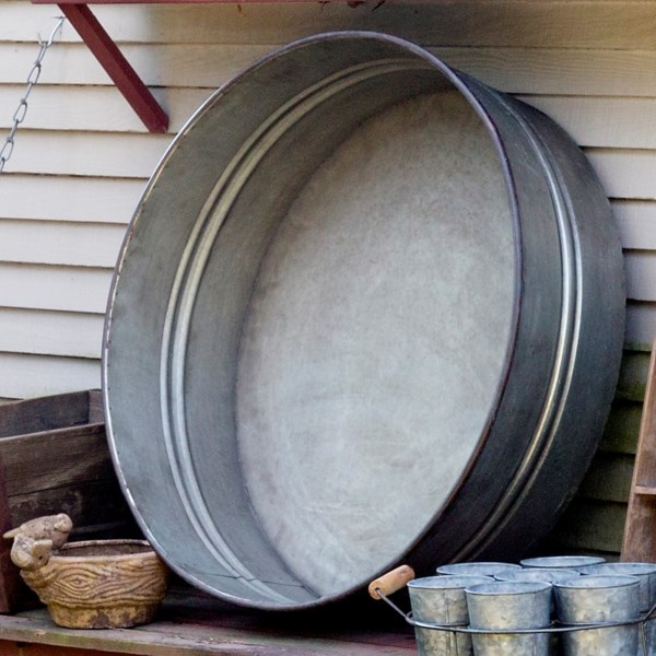Large Tin Tub, $115.00