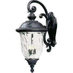 Carriage House VX 3-Light Outdoor Wall Lantern 40498WGOB