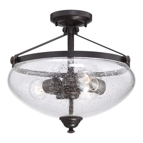 3-Light Semi Flush Mounted Light Fixture