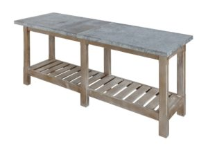 Metal Topped Console Table, $599.00
