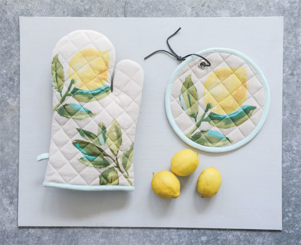 Lemon Hot Mitt & Pot Holder, $3 & $8