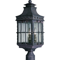 3-Light Outdoor Pole/Post Lantern