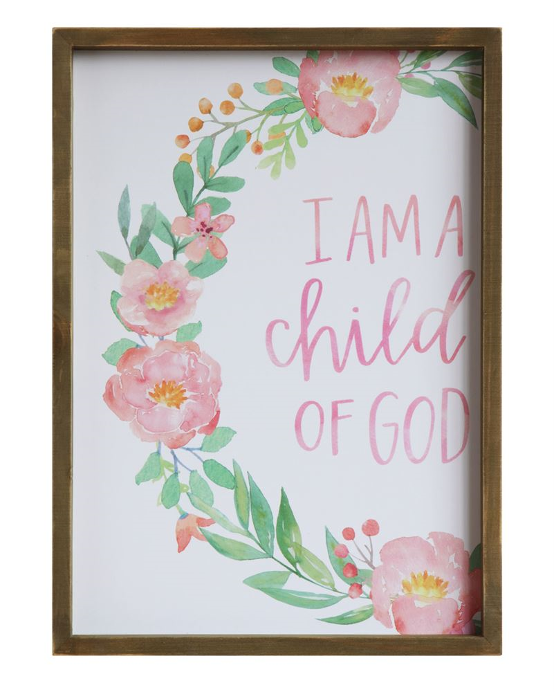 """I Am A Child Of God"" Wall Art, $28"
