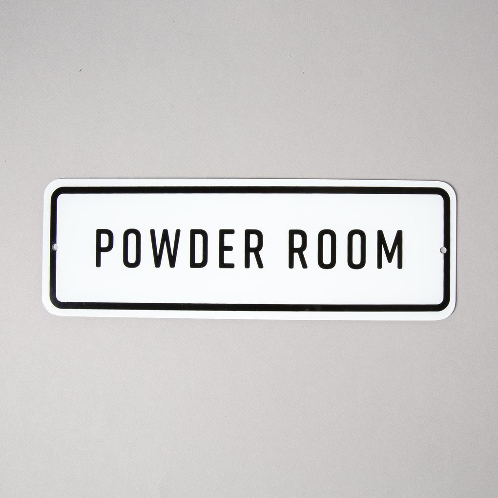 Powder Room Sign, $16
