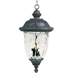 Carriage House VX 3-Light Outdoor Hanging Lantern 40428WGOB