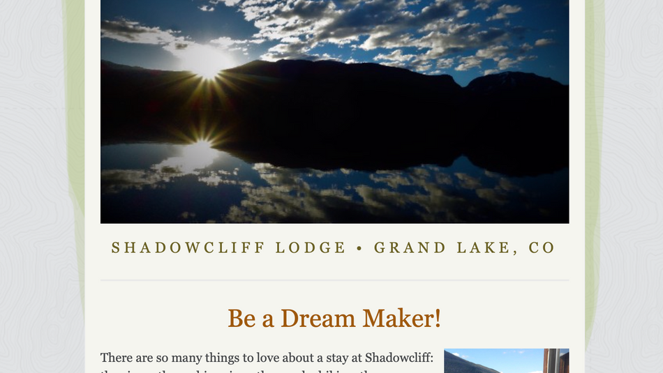 Shadowcliff Fundraiser Email