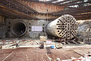 Tunnel boring machine at construction si