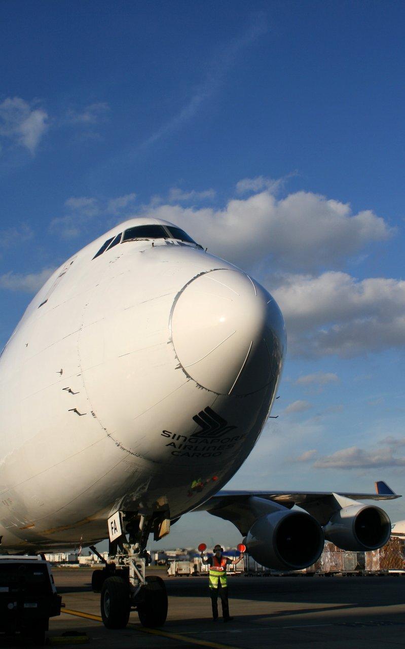 Cargo aircraft Boeing 747