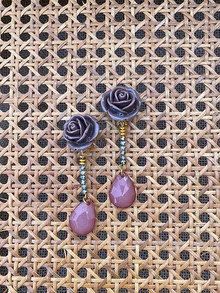 Pendientes Rosas Topo