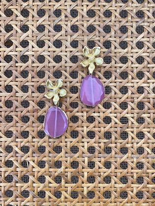 Pendientes Flores lavanda