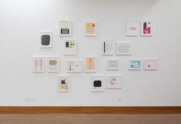 """Ausstellungsansicht """"Nach der Garderobe"""", Kultrraum St.Gallen - Foto: Hannes Thalmann"""