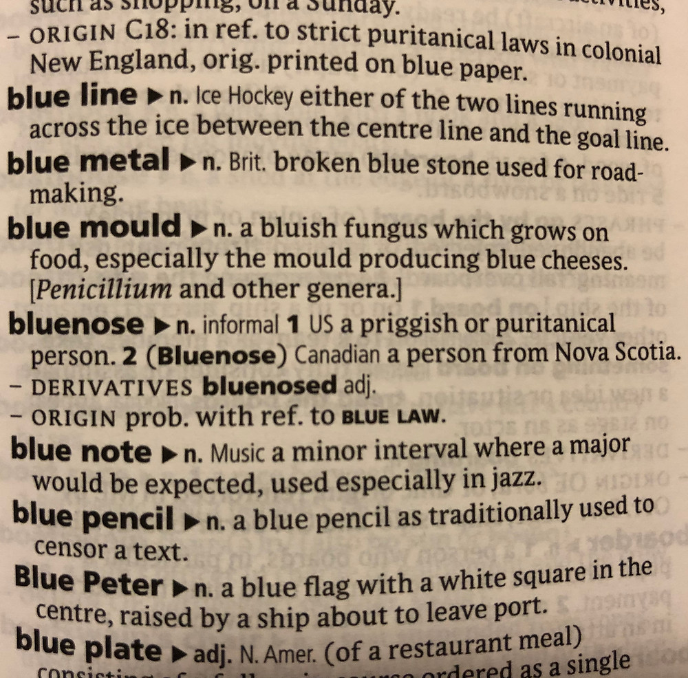 Bluenose Oxford Dictionary Definition