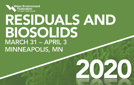 374Water to present at the WEF Residuals and Biosolids Conference 2020 - March 31- April 3 The Minne
