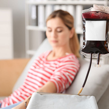 passing blood to patient