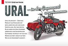 Motorrad Gespanne - Ural Technik heute
