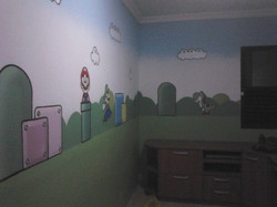 Pintura quarto do super Mario