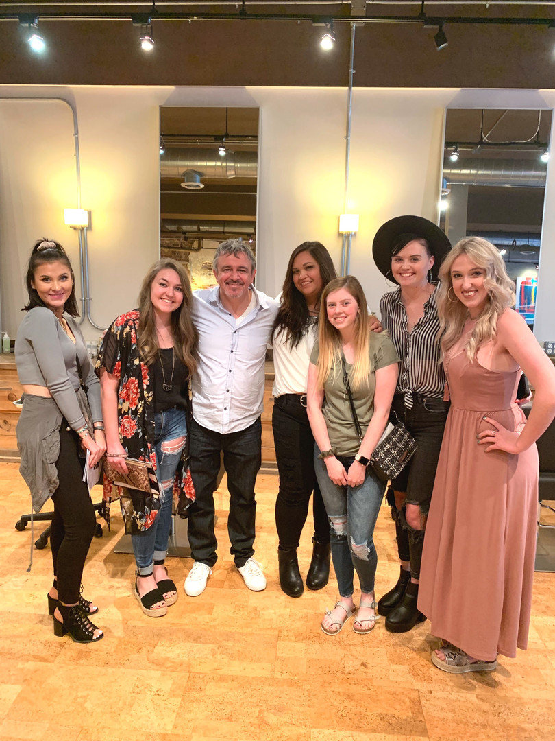 The team with celebrity stylist Nick Arr