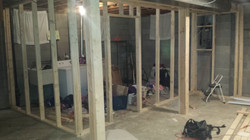 Framing a laundry room in Barberton