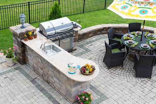 Custom exterior entertaining areas, decks, patios, bbq, seating, lawn care.