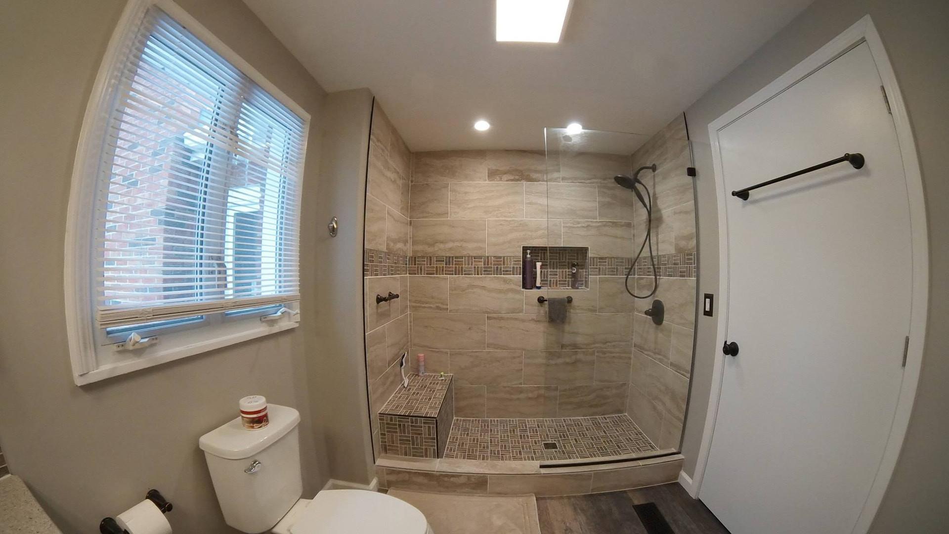 Barberton tile and shower bathroom remod