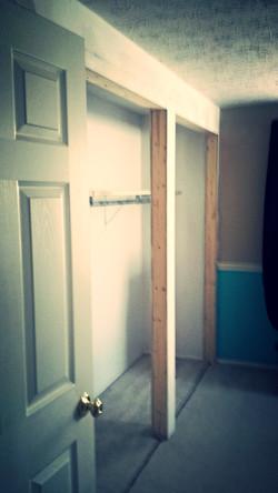 Medina Carpentry Framing Closet