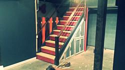 Custom basement cable railing