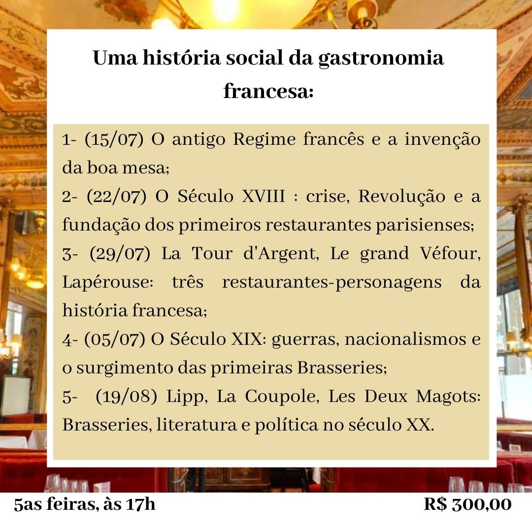 História social da gastronomia francesa