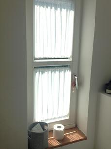 Fenstergardinchen mit Stangen