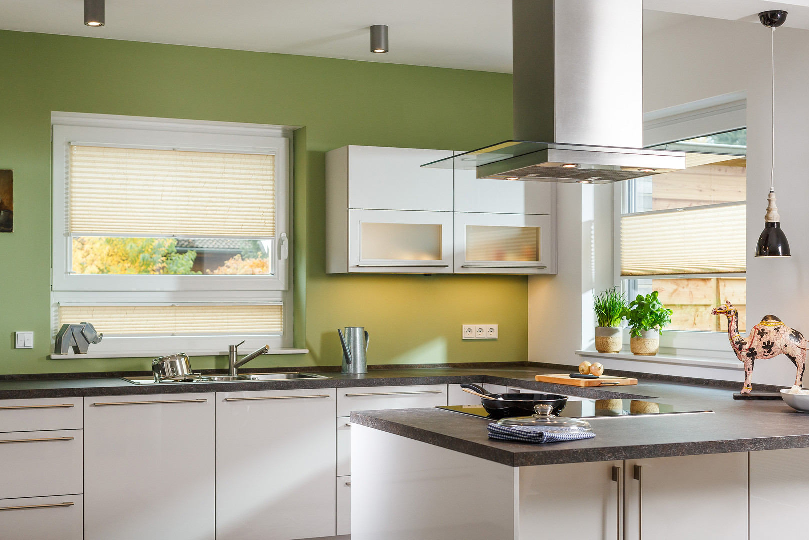 Plissee Ambiente Küche