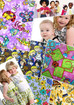 Cotton fabrics with children's motifs