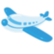 —Pngtree—cartoon blue airplane_2711399 -
