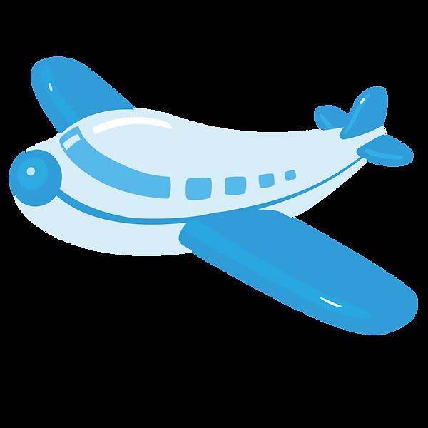 —Pngtree—cartoon blue airplane_2711399 -
