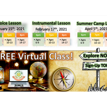 FREE Virtual Class!  For a limited time, sign up for a FREE Introductory Class.