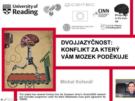Talk on bilingualism in the brain during the Brain Awareness Week 2021 (Týden mozku 2021)