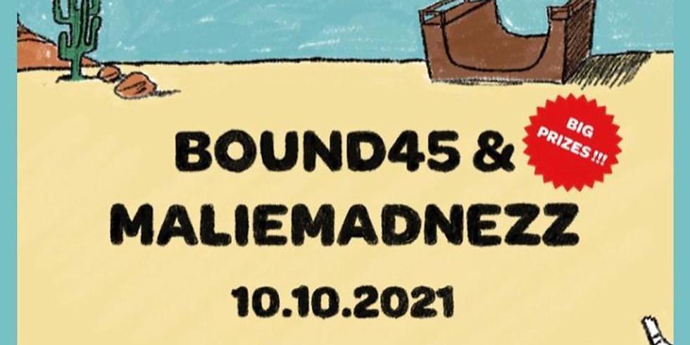 Bound45 & MalieMadnezz   SKATE CONTEST + PARTY