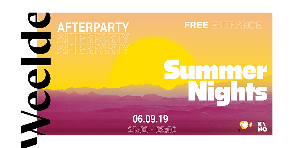 KINO/Pathé Summer Nights x Weelde Afterparty