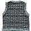 Thumbnail: Tweed lined blue and gray sweater vest