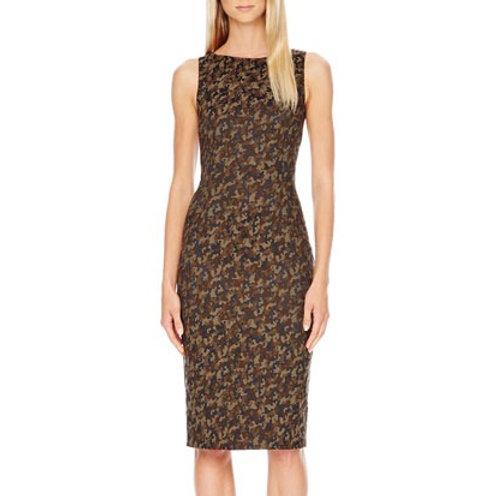 Michael Kors Collection Camo Military Army Print Shift Dress Size 2